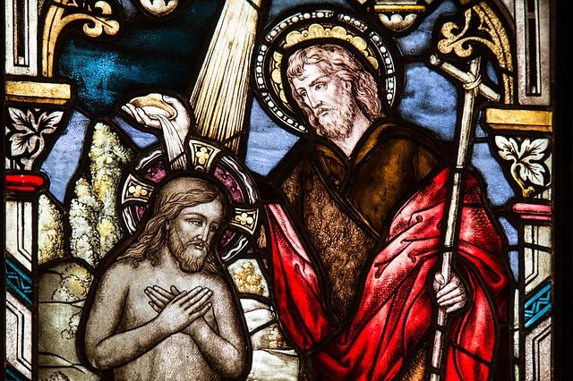 Jesus Christus bei der Taufe